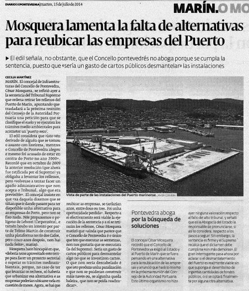 Diario, 15 de xullo de 2014.