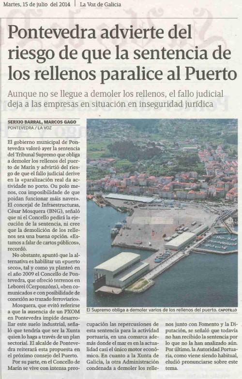 La Voz, 15 de xullo de 2014.