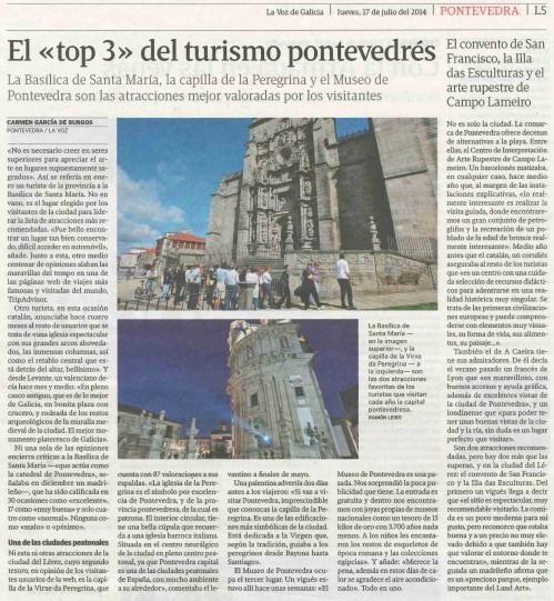 La Voz, 17 de xullo de 2014.