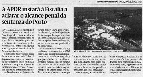 Diario, 19 de xullo de 2014.