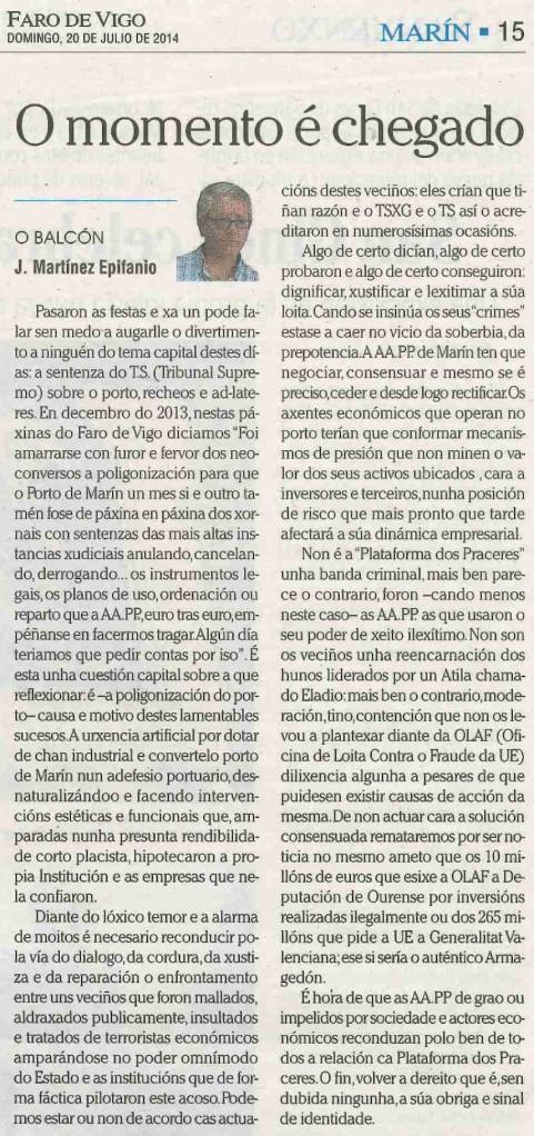 Faro, 20 de xullo de 2014.