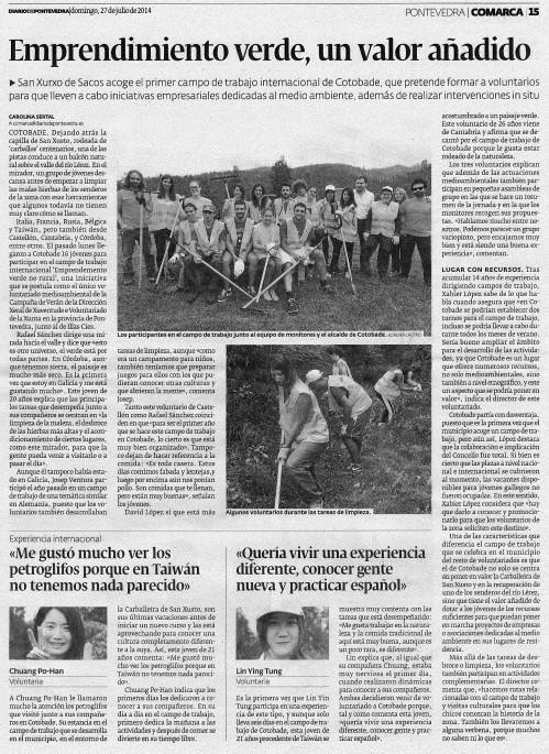 Diario, 27 de xullo de 2014.