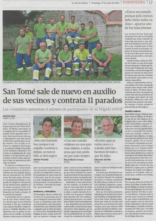 La Voz, 27 de xullo de 2014.
