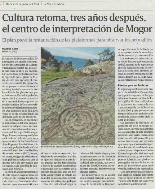 La Voz, 29 de xullo de 2014.