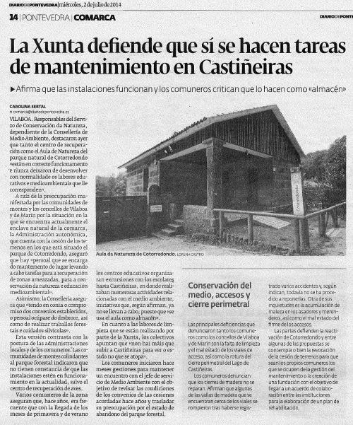 Diario, 2 de xullo de 2014.