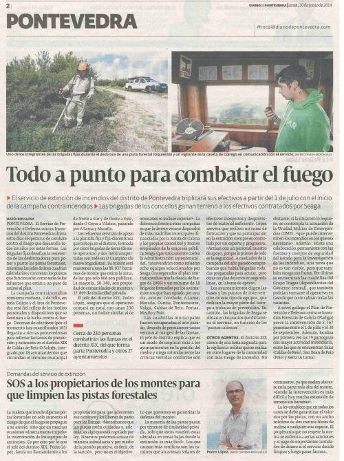 Diario, 30 de xuño 2014.