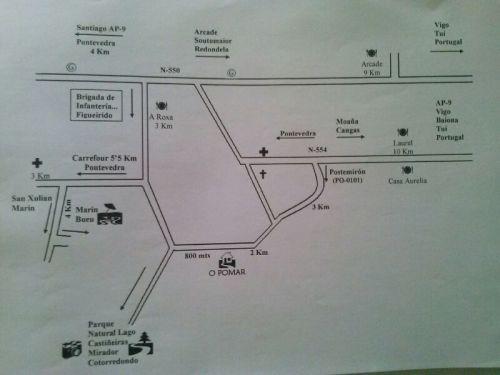 Plano de acceo á Veiga do Palheiro.