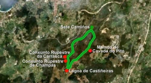 Espazo Sete Camiños: conexión con Castiñeiras.