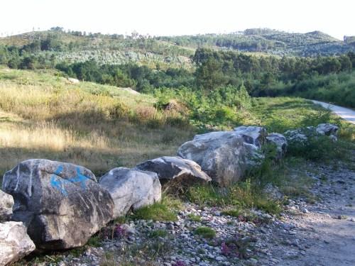 Valado protexendo os petroglifos de Regato dos Buratos.