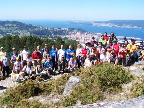 Asistentes á ruta polo Monte Pituco.