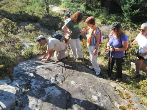 Petroglifos de Sete Camiños (foto, Alex Negreira).