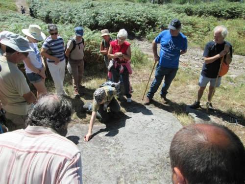 Petroglifos de Pornedo (foto, Alex Negreira).