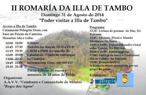 II Romaría na illa de Tambo.