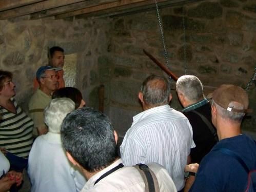 No interior dun dos muíños do Batán, en Salcedo.