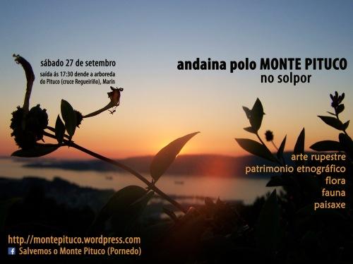 Esta tarde, andaina polo Monte Pituco no solpor