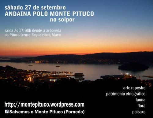 Andaina polo Monte Pituco, sábado 27 de setembro ás 17:30h.