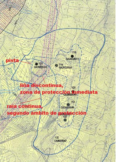 Plano do conxunto rupestre da Carrasca.