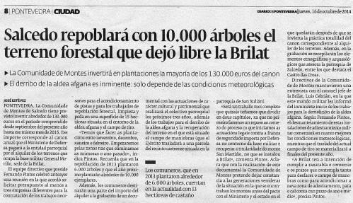 Diario, 16 de outubro de 2014.