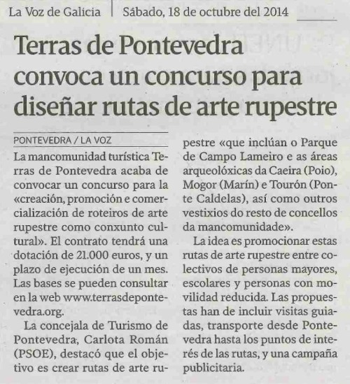 La Voz, 18 de outubro de 2014.