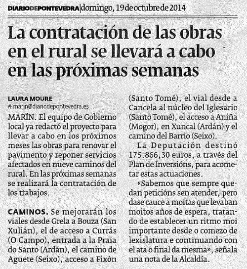 Diario, 19 de outubro de 2014.