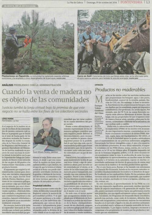 La Voz, 19 de outubro de 2014.