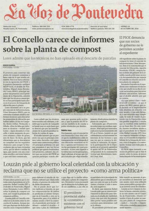 La Voz, 26 de outubro de 2014.
