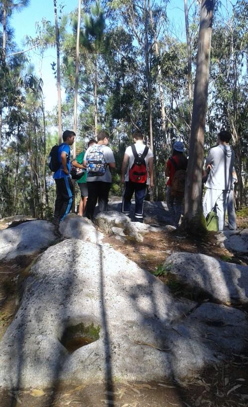 Estudantes marinenses no Monte Pituco.