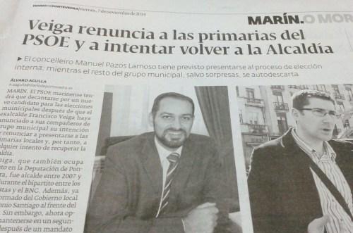 Diario, 7 de novembro de 2014.
