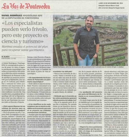 La Voz, 10 de novembro 2014.