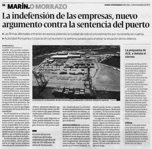 Diario, 12 de novembro 2014.