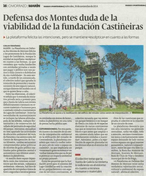 Diario, 26 novembro 2014.