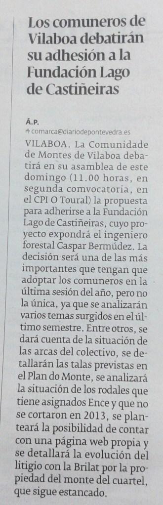 Diario, 11 de decembro de 2014.