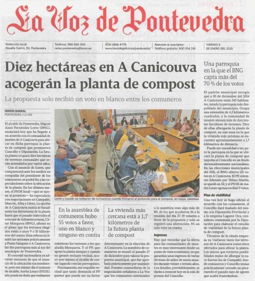 La Voz, 9 de xaneiro 2015.