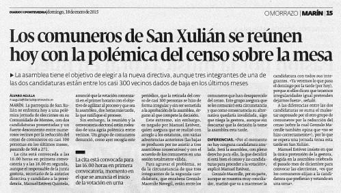 Diario, 18 de xaneiro 2015.
