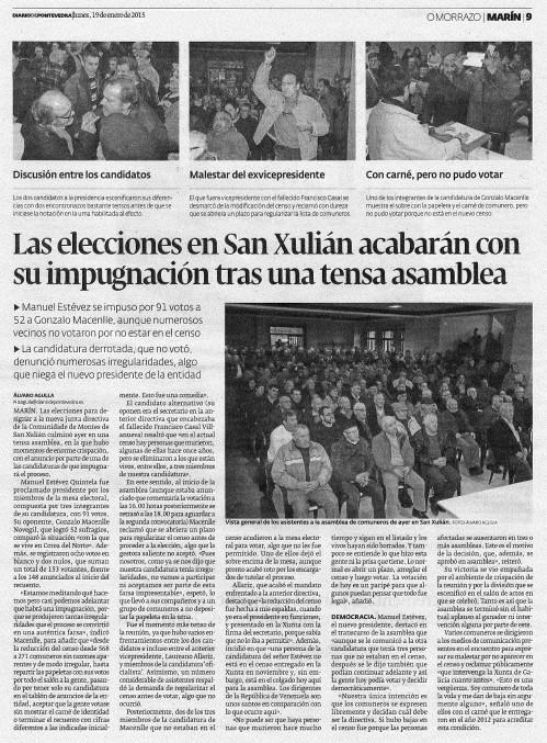 Diario, 19 de xaneiro 2015.