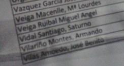 Saturno Vidal, no censo.