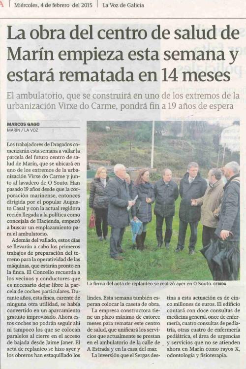 La Voz, 4 febreiro 2015.
