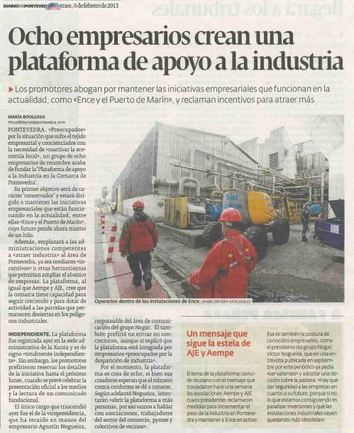 Diario, 6 febreiro 2015.