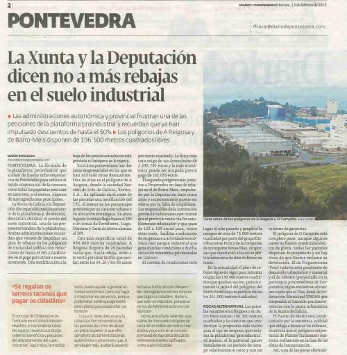 Diario, 13 febreiro 2015.