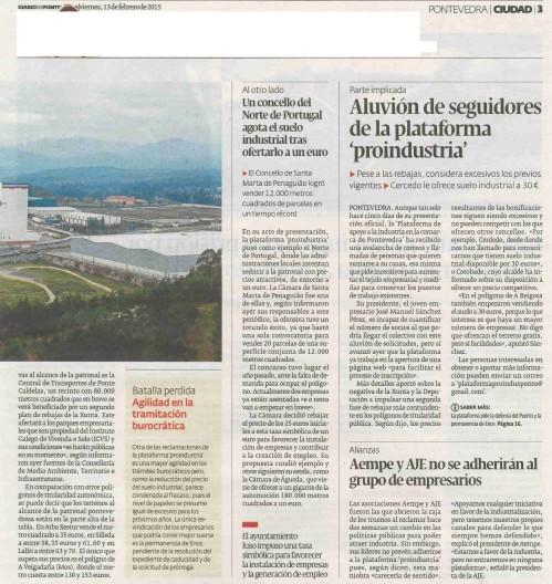 Diario, 13 febreiro 2015