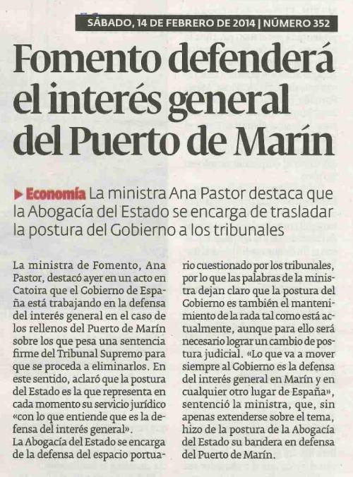 Diario, 14 de febreiro de 2015.