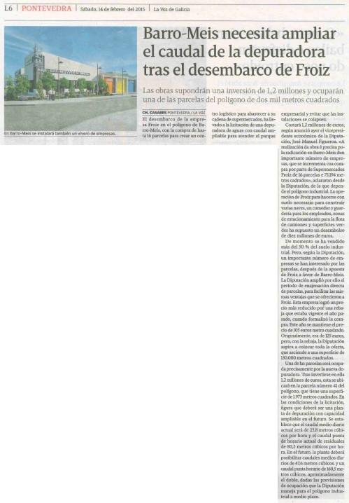 La Voz, 14 de febreiro 2015.