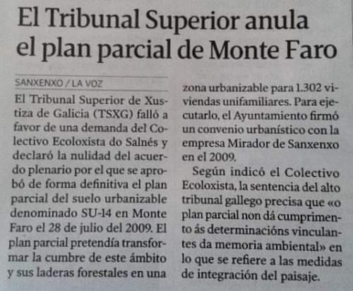 La Voz, 18 febreiro 2015.