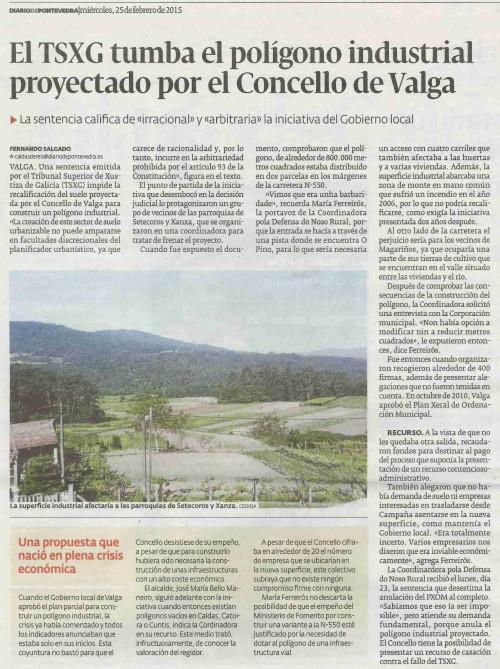 Diario, 25 febreiro 2015.