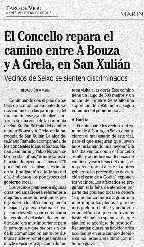 Faro, 26 febreiro 2015.