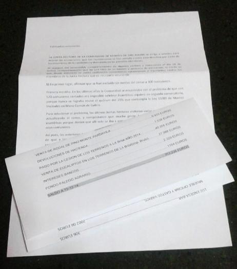 Carta da directiva da Casa de Montes de San Xulián.