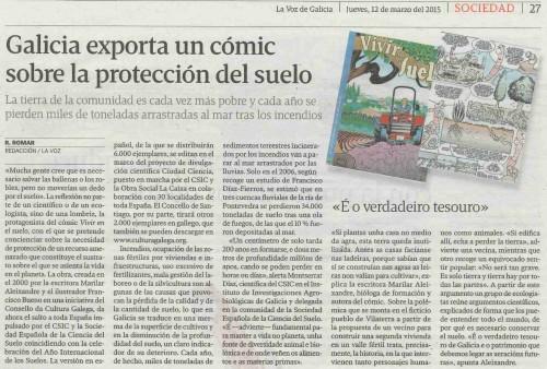12mar15_LaVoz_Comic sobre protección suelo