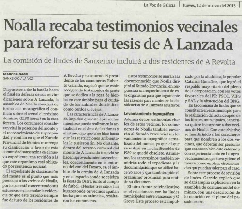 La Voz, 12 de marzo 2015
