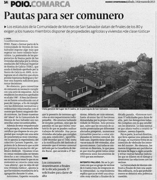 Diario, 14 marzo 2015