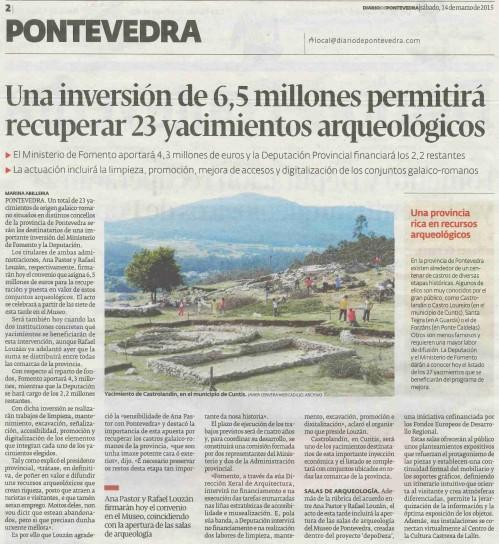 Diario, 14 de marzo 2015.